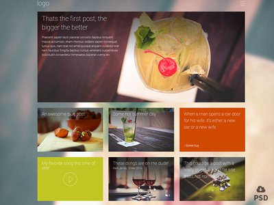 Coctail, Free PSD template