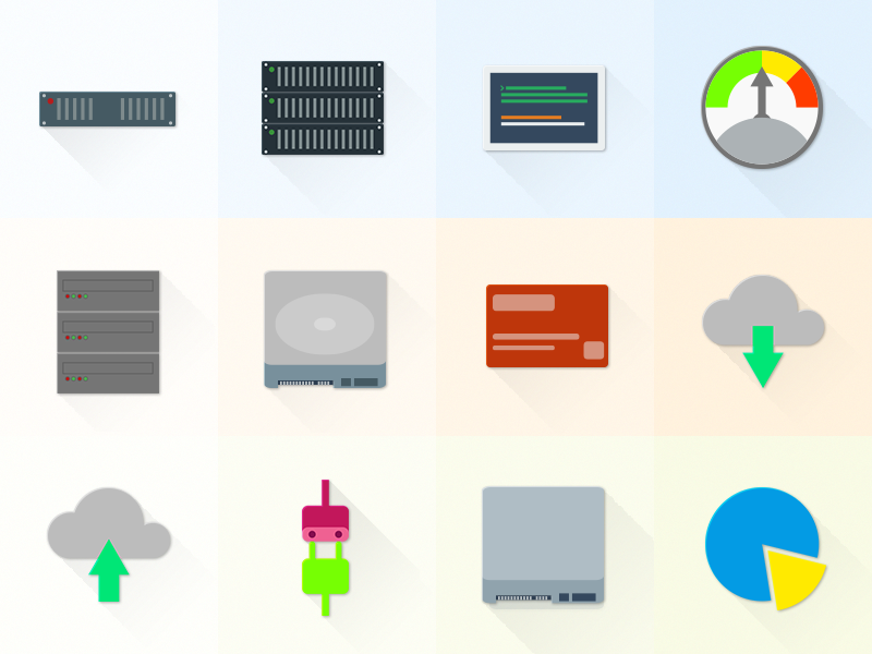 Free Set Of Material Design Hosting/Server Icons material free freebie psd icons hosting server material design