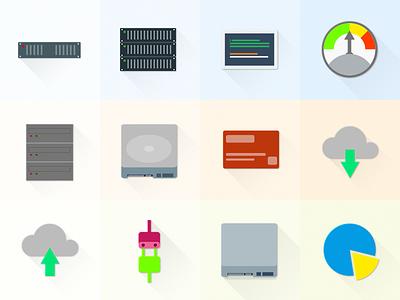 Free Set Of Material Design Hosting/Server Icons material free freebie psd icons hosting server material design