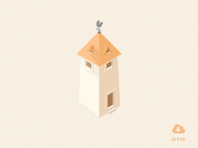 Free Little Buildings Icons vol 1