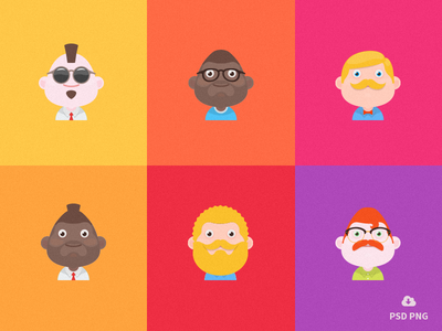New Free Set Of Material design avatars