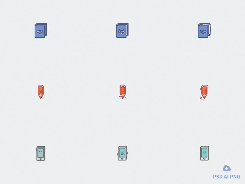 Free set of Emotion Icons icons outline file vector design icon psd freebie free emoji emotion