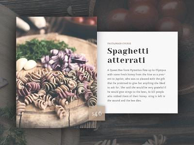 Menu - Design Conept typography design food restaurant menu