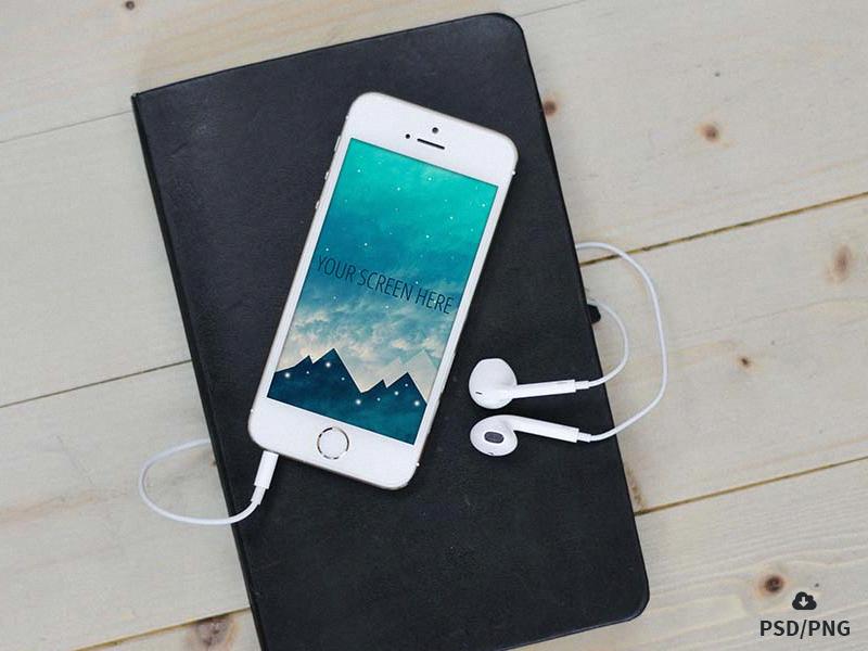 Free iphone SE photorealistic mockups ios apple device download freebie psd mockup iphone se iphone
