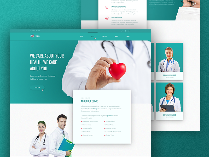 Free PSD Template! Verso – Medical Site