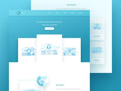 Verso - SaaS landing page clean minimal wordpress theme design app landing saas