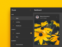 Dashboard Design - Dark Yellow