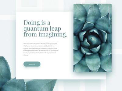 Quantum leap minimal post leap quantum