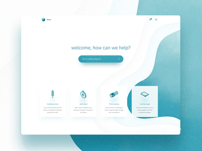Knowledge Base - landing page draft support minimal landing articles knowledge base studio invision