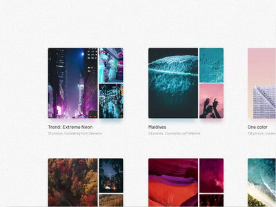 Unsplashy ui design invision invision studio animation hover effect unsplash