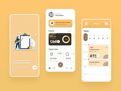 Task Management App productivity design app ui