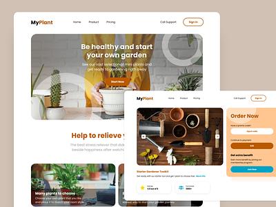 MyPlant Ecommerce ecommerce website ui