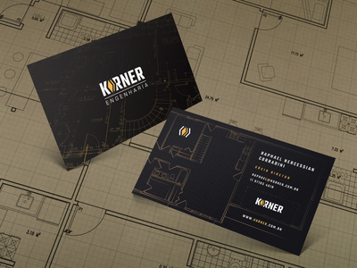 Korner Business Cards architecture construction logo construction branding logodesign logotype logotipo logo brand design brand identity business card engineering civil engineering
