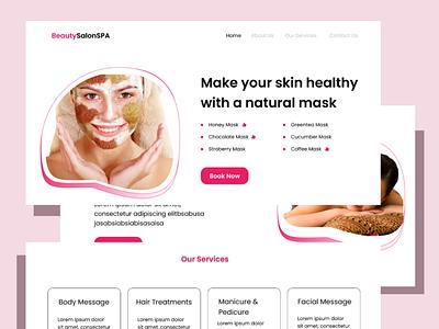 Beauty Salon Website website ui design web salon beauty