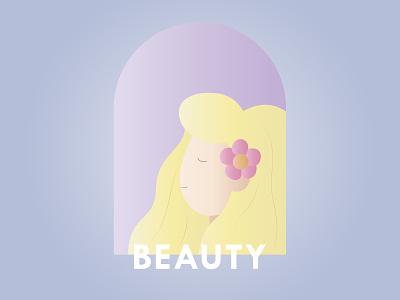 Beauty beauty vector flat branding banner design banner illustration design