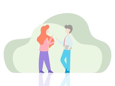Communication website web vector minimal flat branding banner design banner illustration design