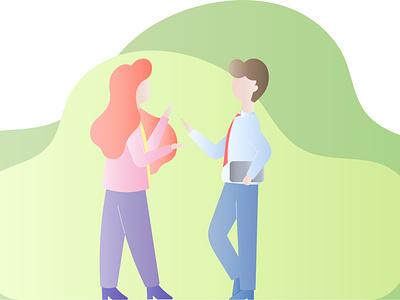 People website web vector minimal flat branding banner design banner illustration design