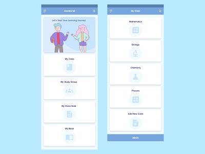 E-learning Application Dashboard study app design ui design ui design