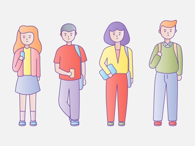 Student Character character design people illustration character student people vector banner design illustration design
