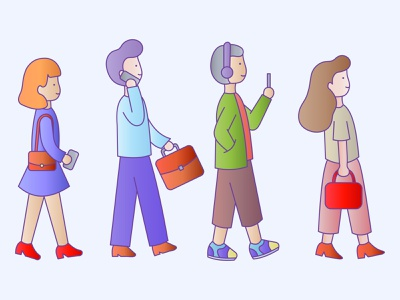 walking style people character illustration style character people vector ui design