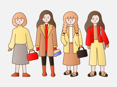 Woman winter style style fashion winter people characters ui minimal vector flat design illustration