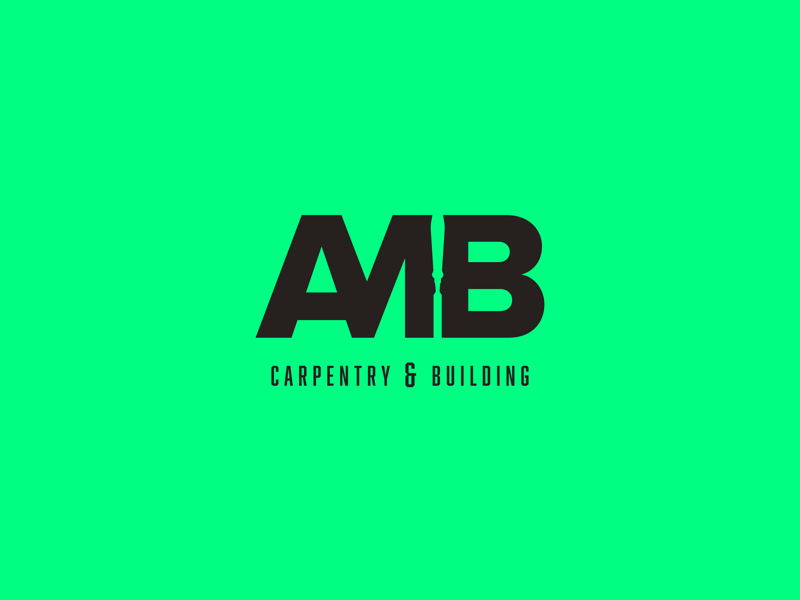 AMB Carpentry -  logo builders graphics art direction branding carpentry tradesman logodesign logo