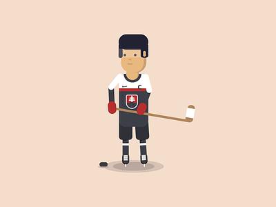 Ice hockey player hockey player flat vector championship world slovakia character illustration hockey ice