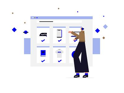 Shopping webdesign web shop shopping character illustration