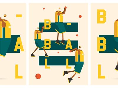 Bball poster webdesign web dribbble player bball basketball character illustration