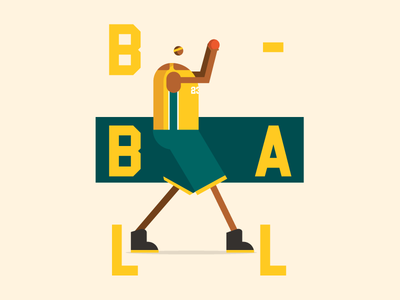 Bball Guard poster sport dribbble ball bball basketball illustration character