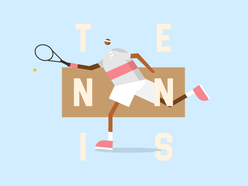 Return poster webdesign web illustration character tennis