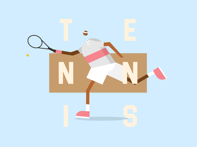 Return poster webdesign web illustration character tennis
