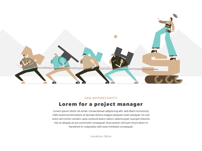 Project manager webdesign website typography woman girl boy man illustration character