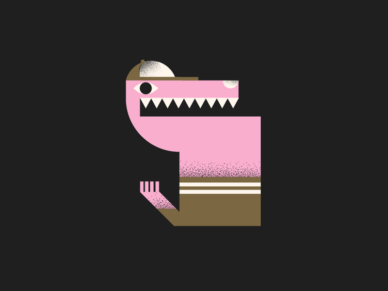 S animal weird creepy texture grain character illustration