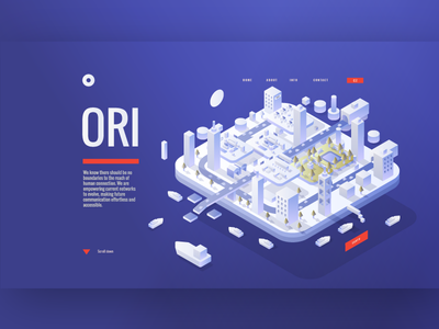 Earth isometry webdesign web car cars road buildings town 3d isometric design isometric city earth illustration