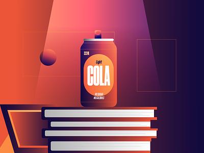 Cola illustration gradient picture book coke cola