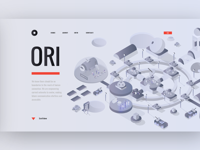 Moon 3d isometric isometry house illustration webdesign website web dron car building house world space moon
