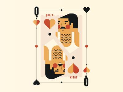 Queen texture illustration poster freddie mercury card queen