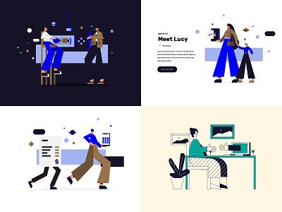 2018 character webdesign man boy girl woman design texture illustration