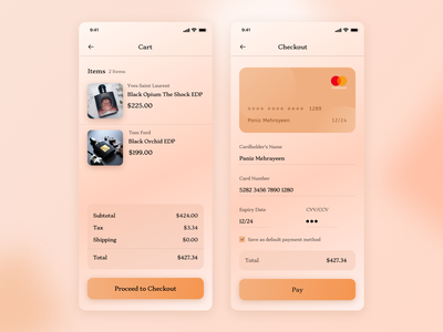 Checkout Page - Daily UI Challenge#2 mobile app design daily ui challenge checkout page dailyuichallenge dailyui design