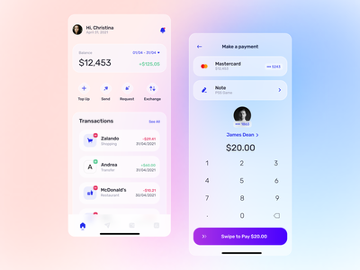 Finance App - Concept app uidesigner glass effect glassmorphism uxuidesign banking finance app productdesign