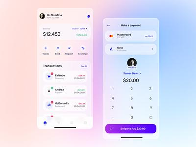 Finance App - Concept app uidesigner glass effect glassmorphism uxuidesign banking finance app productdesign