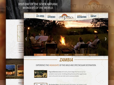 Live Africa drupal vacation africa safari luxury web design travel