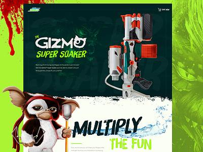 Mocktober 2017 - The Gizmo Super Soaker web design water gun super soaker gizmo mocktober halloween horror gremlins