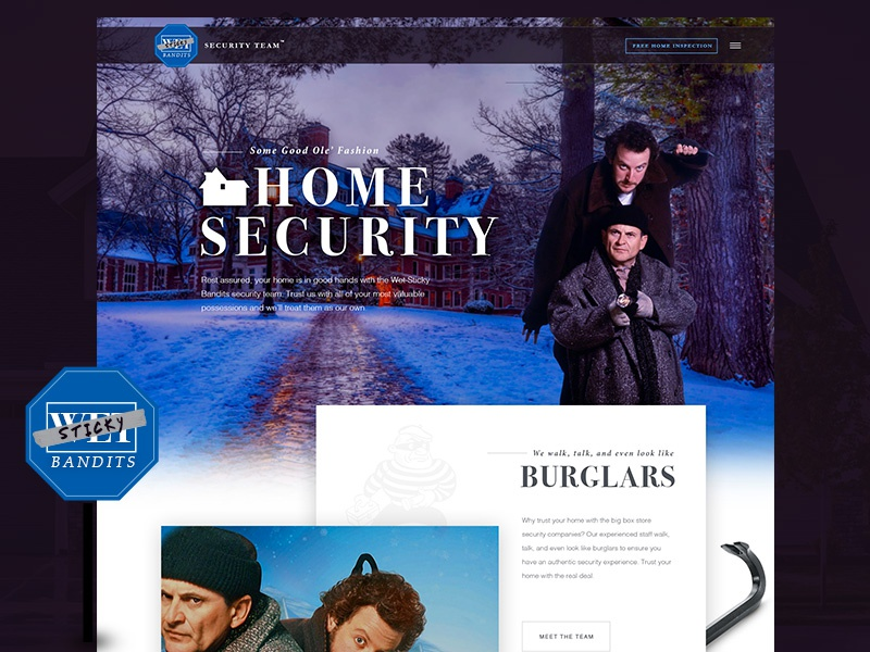 Sticky Bandits Security Company burglars wet bandits sticky bandits security mockthehalls holiday christmas home alone