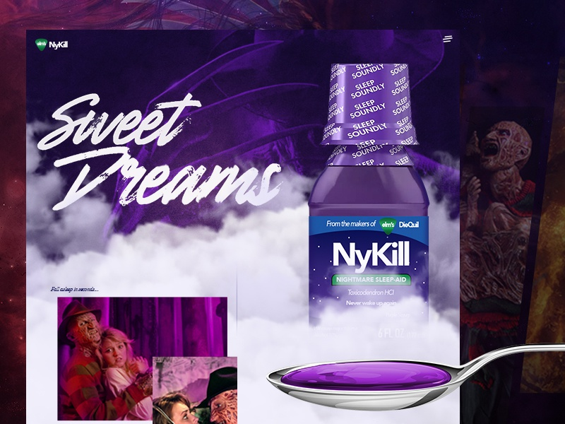 NyKill medicine web design horror movie mocktober halloween freddy krueger