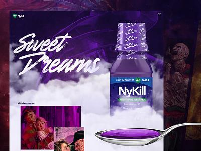 NyKill medicine web design horror movie mocktober halloween freddy krueger