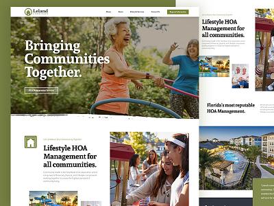 Leland Lifestyles website website design lifestyle community lifestyle brand