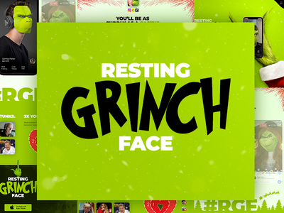 Resting Grinch Face whoville mock the halls face swap mobile app christmas dr. seuss grinch