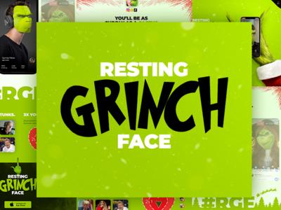 Resting Grinch Face whoville mock the halls face swap mobile app christmas dr. seuss grinch